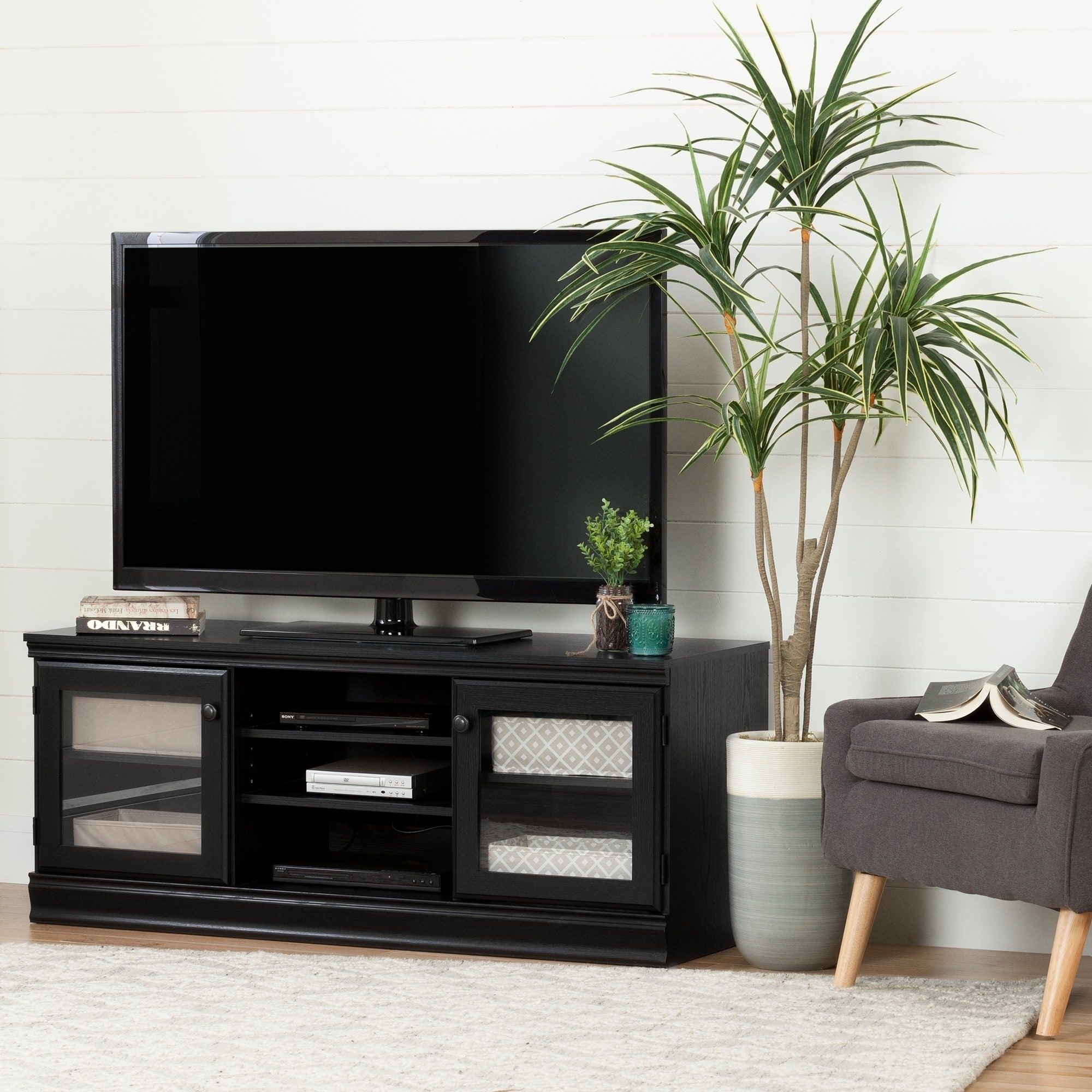 South Shore Morgan TV Stand for TVs up to 75 Royal Cherry royal