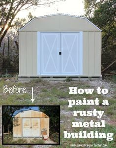 Shed Painting Tutorial Lots Of Great Tips