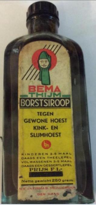 BEMA Thijm Borstsiroop - tegen gewone hoest, kink- en slijmhoest - N.V. v/h Firma B. Meindersma Den Haag