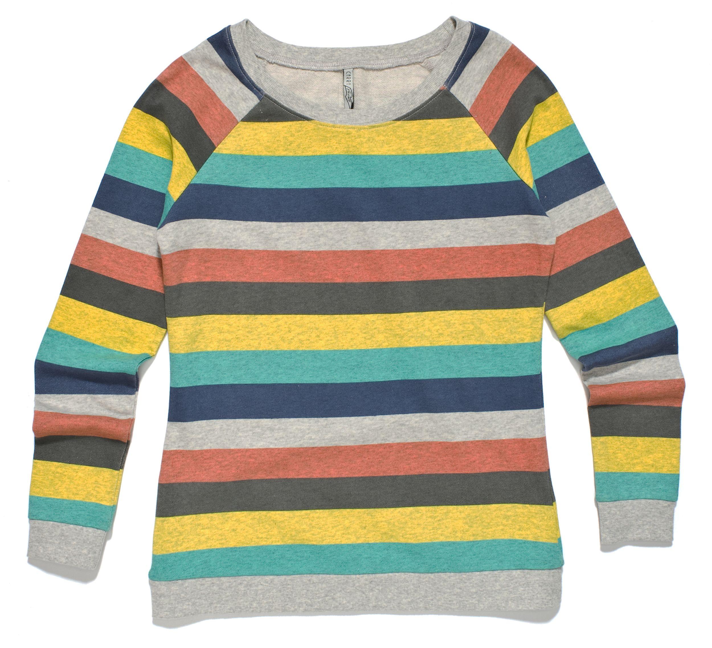 kolorowa bluza w poziome paski