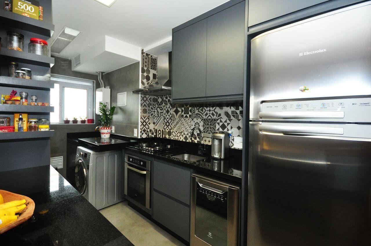 44 Cozinhas Planejadas Para Apartamentos Pequenos Pinterest