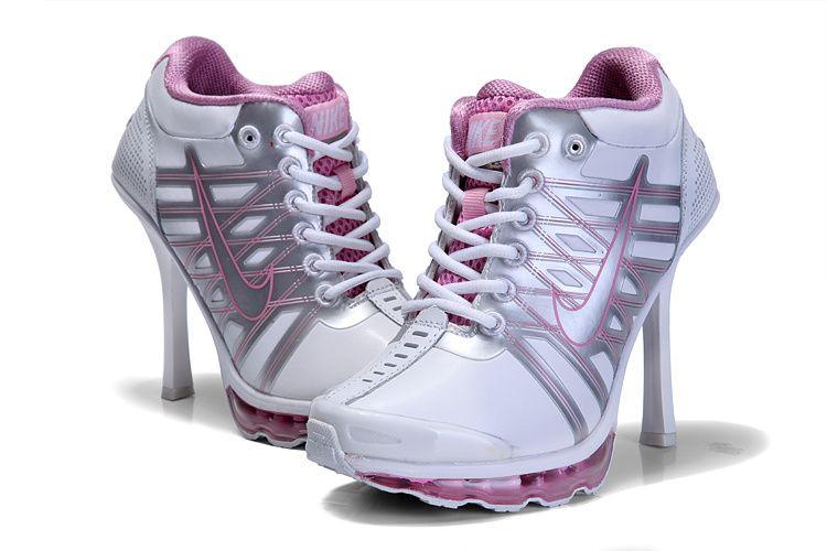 online retailer 6cb2c 27b20 2013 Nike Air Max 09 High Heels White Pink