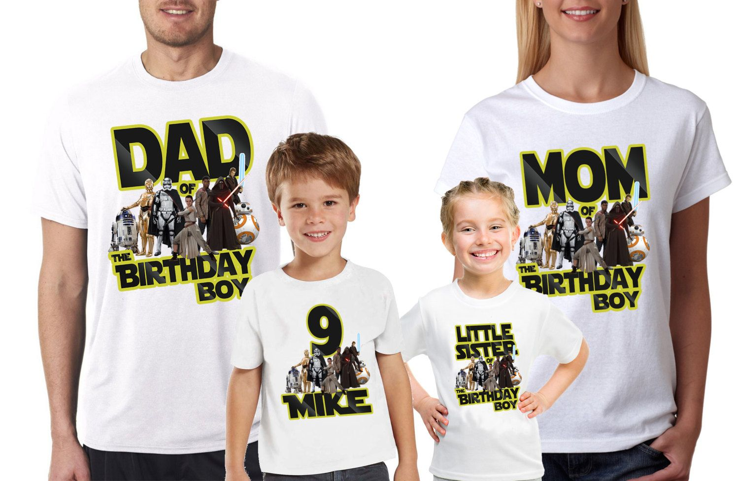 Star Wars Custom Birthday ShirtBoys Girls ShirtBirthday Party T Shirts Now And For Parents Fast Shipping By DatShirts On Etsy