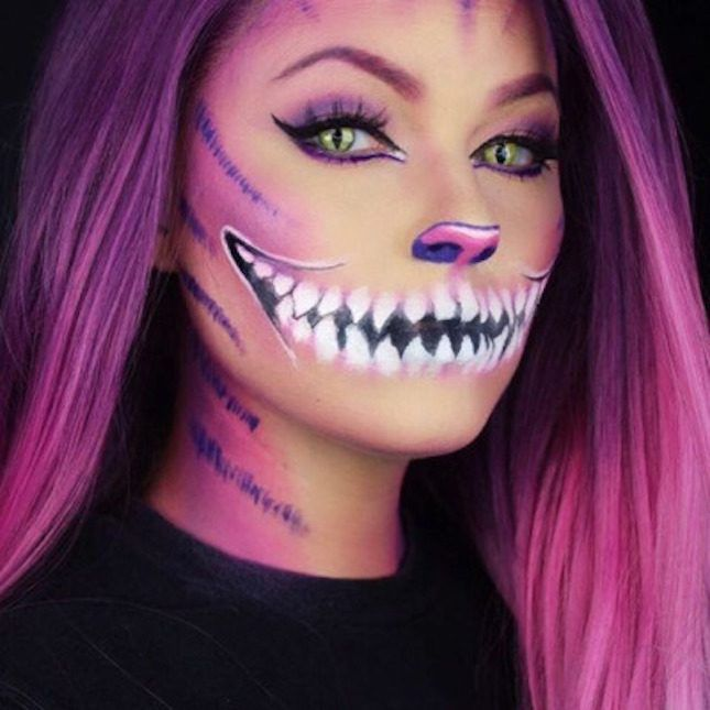 Give yourself a cheshire cat look on halloween with this makeup give yourself a cheshire cat look on halloween with this makeup tutorial solutioingenieria Choice Image