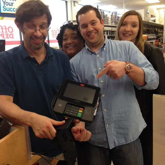 #Ingenico ISC Touch 480 At Office Depot In San Francisco! All Payment