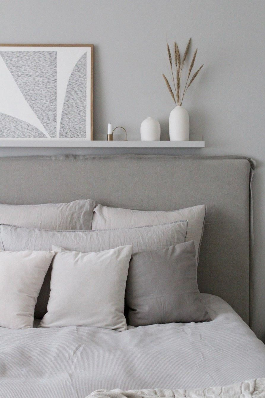 Grey Bedroom With Linen Headboard Molge Decor Masterbedroom Bed Linens Luxury Grey Headboard Bedroom Bedroom Headboard Linen headboard bedroom ideas