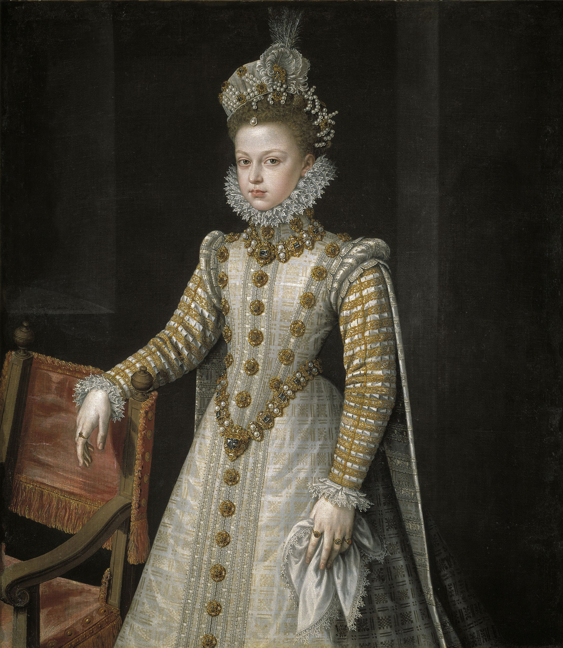 Portrait of the Infanta Isabella Clara Eugenia by Alonso Sánchez Coello