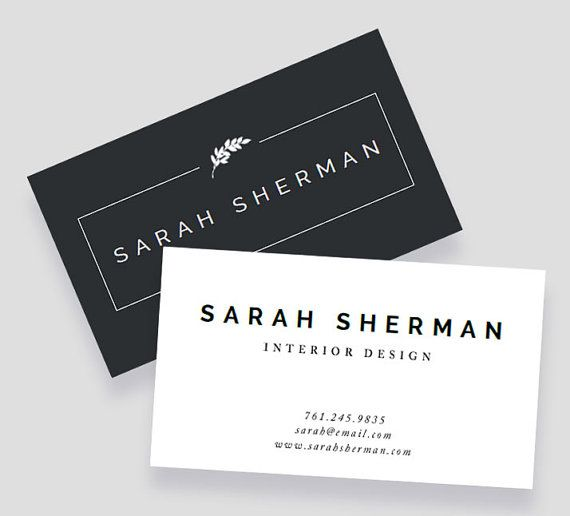 Business Card Template For Word And Pages By Polishedresumedesign