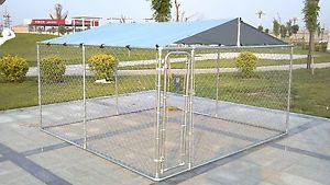 Chicken Run 10x10x6 Ft Coop For Poultry Rabbit Hen Cage Pen Metal Door W Cover Dog Kennels For Sale Dog Kennel Dog Kennel Outdoor