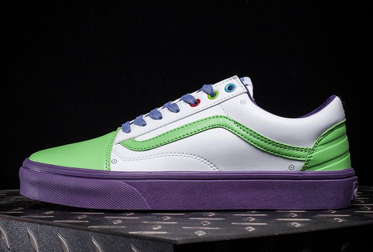 d7c2a678e76f9f Vans x Toy Story Buzz Lightyear Old Skool Leather Skate Shoes  Vans ...