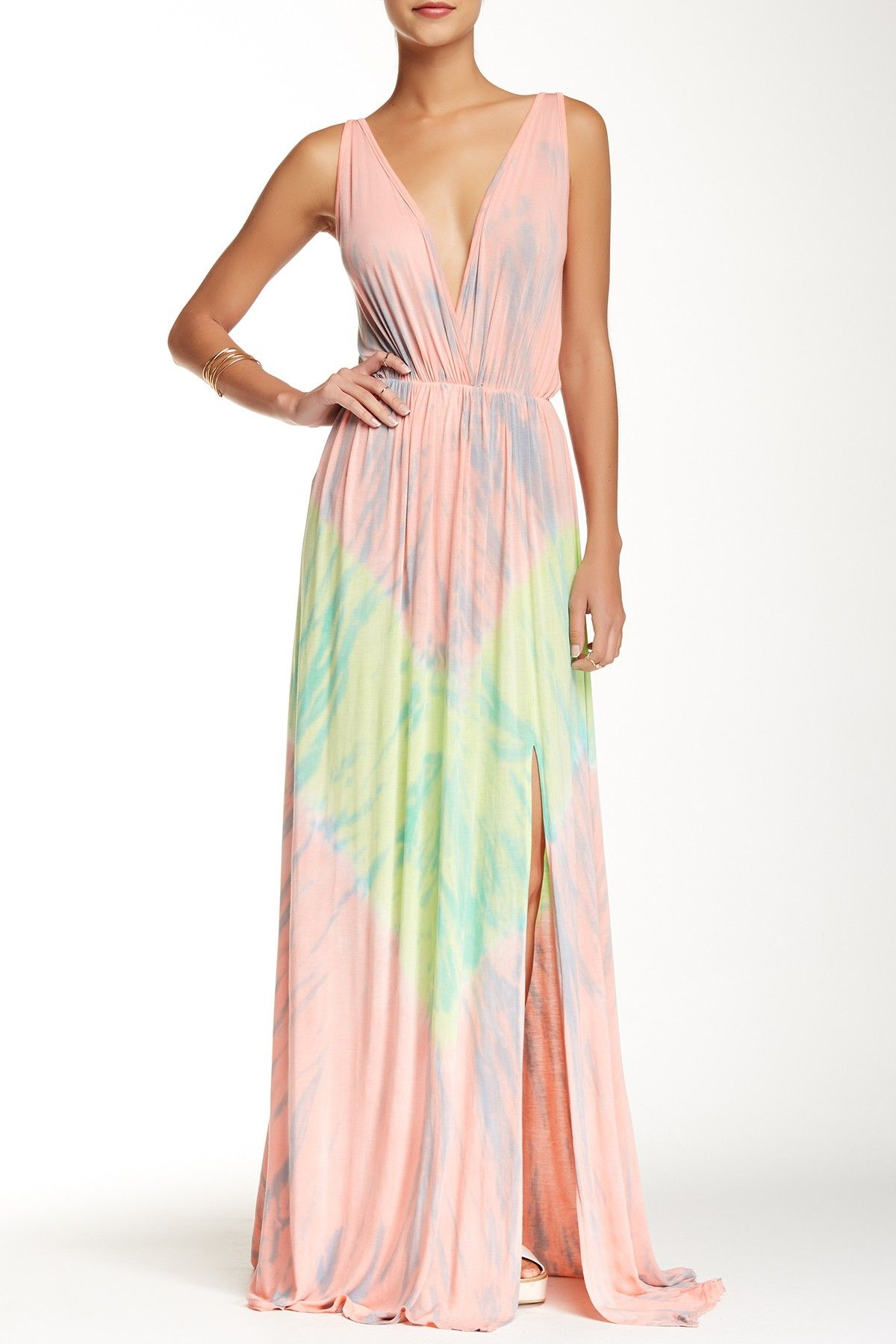 ebda246952 Beautiful Pastel Tie Dye Maxi Dress