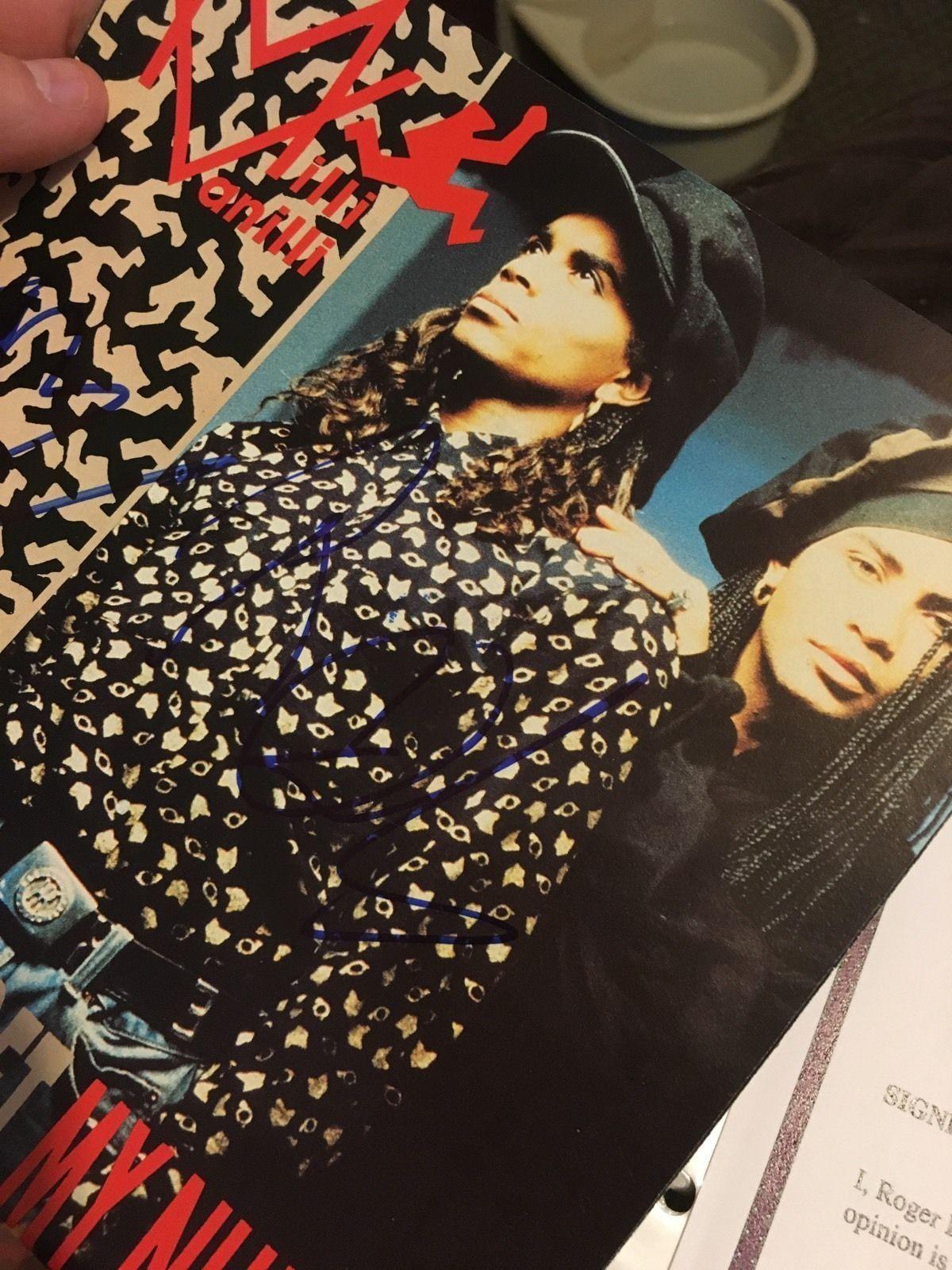 Milli Vanilli signed old school 90's autographed album sleeve signed dual COA Ro