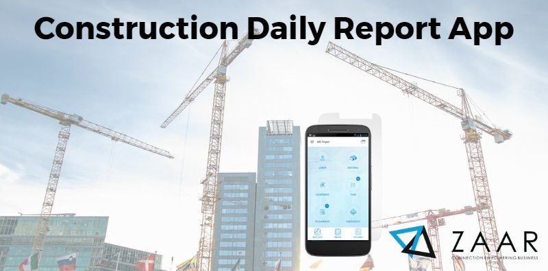 Construction report manager app can easily allow smart