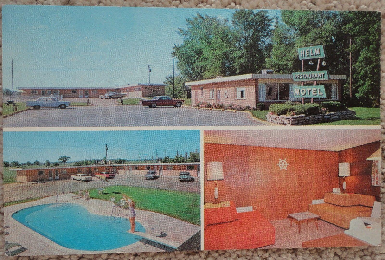 Helm Restaurant & Motel, Harbor Beach, MI 1950s Harbor