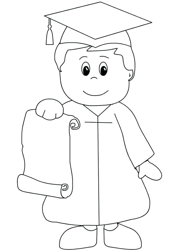 Graduation Coloring Pages And Themes Kindergarten Coloring Pages Kindergarten Graduation Preschool Coloring Pages