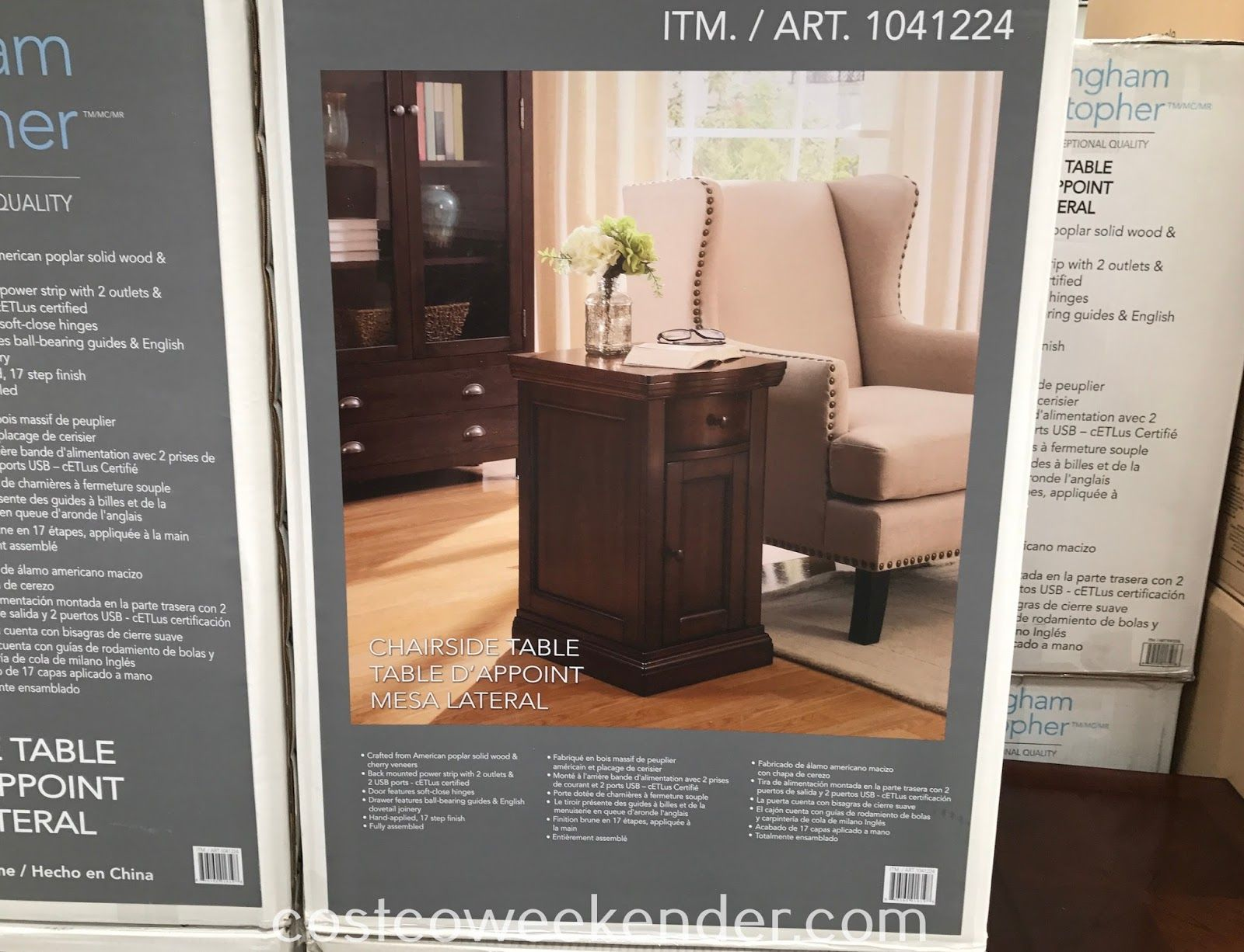 Any chair or couch needs an end table like the buckingham christopher well universal chairside table item no 1041244 which is available at costco for
