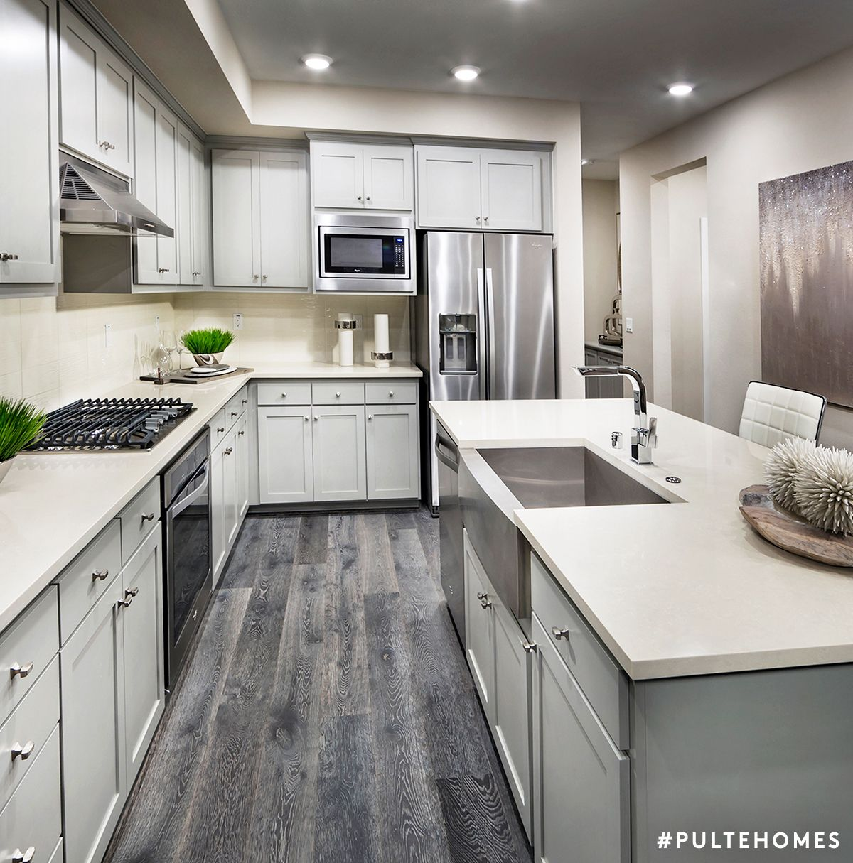 A Modern Kitchen Serving Up Function And Flow Any Chef Would Savor Pulte Homes Kitchen Remodel Design House Design Kitchen Kitchen Remodel Small
