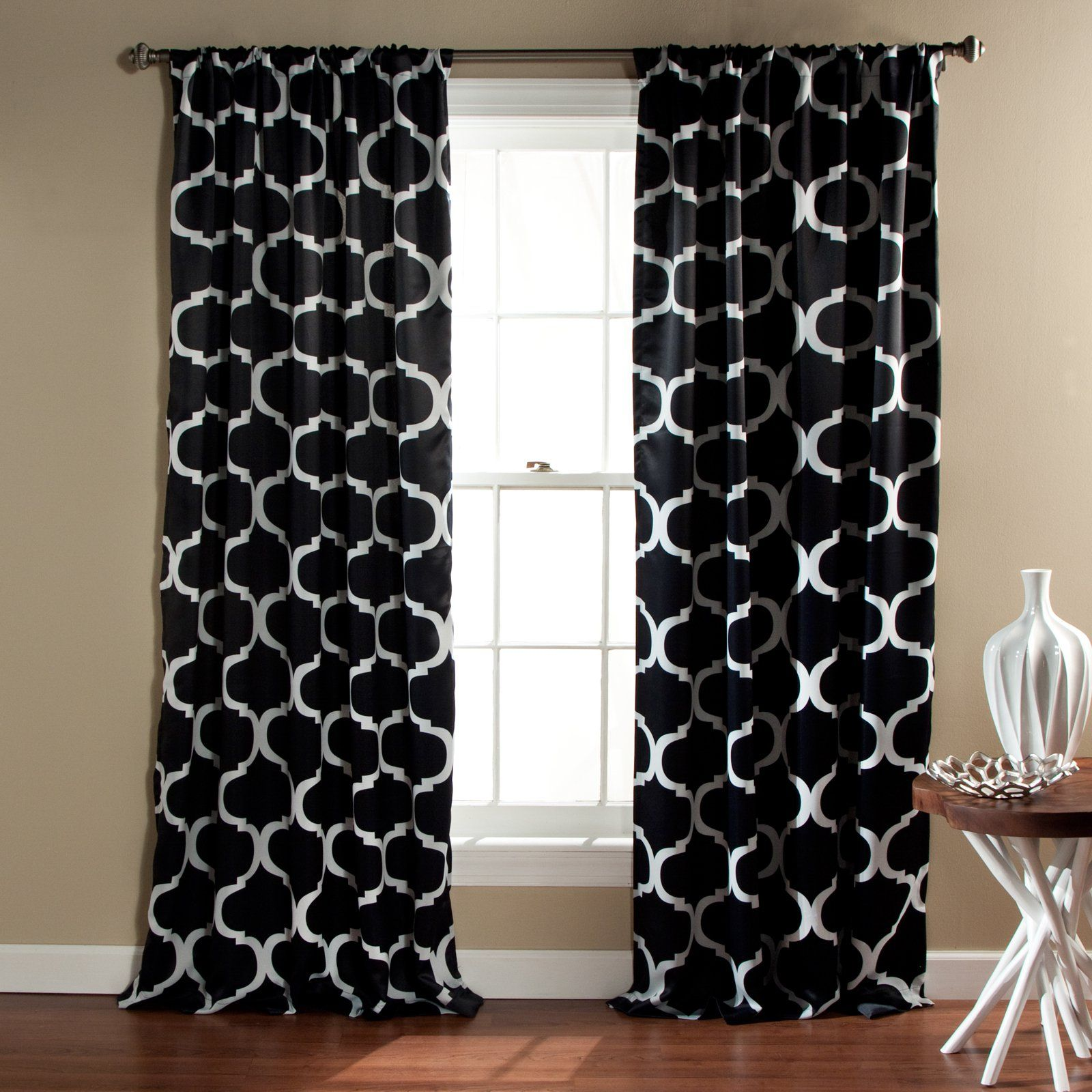 Window coverings to block sun  triangle home fashions geo blackout rod pocket curtain pair  from