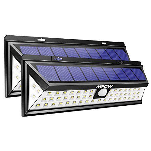 2 PACK 54 LED]Mpow Lampe Solaire Extérieure Etanche 1188 Lumens ...