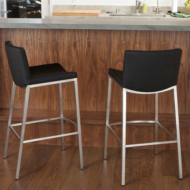Noble house 26 kyle bar stool in black set of 2 bar