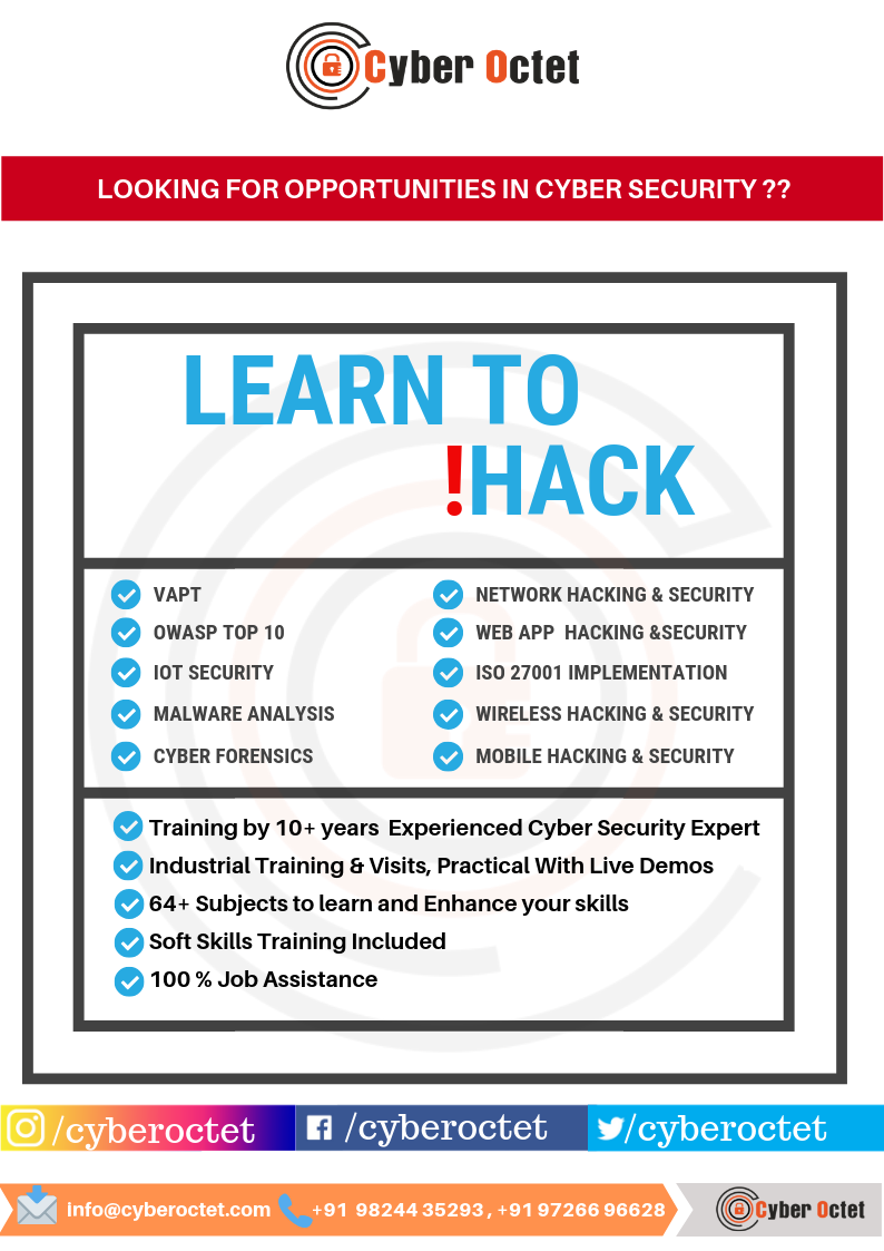 Make Exciting Career In Cyber Security Ethical Hacking With India S Best Cyber Security Company Cyber Security Security Training Cybersecurity Training