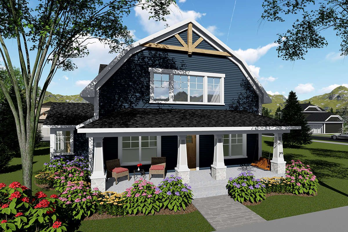 House Plan 1020 00029 Country Plan 2 025 Square Feet 3 Bedrooms 3 Bathrooms Farmhouse Style House Modern Farmhouse Plans Gambrel Roof
