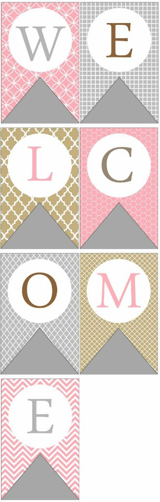 photograph about Welcome Baby Banner Free Printable referred to as WELCOME printable flag banner (totally free)!! best for this