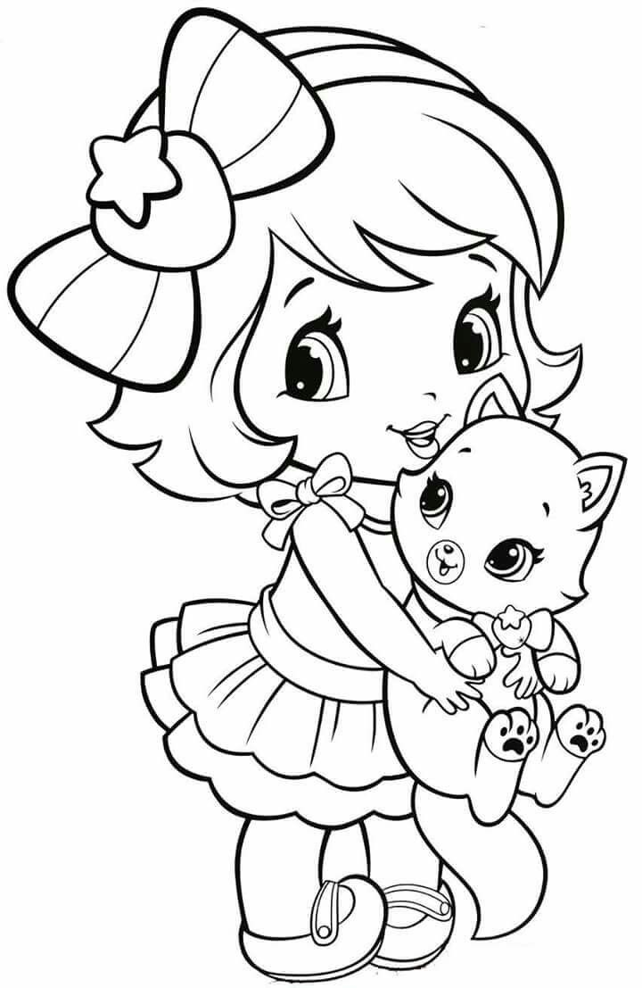 Baby Strawberry Shortcake With Kitten With Images Disney