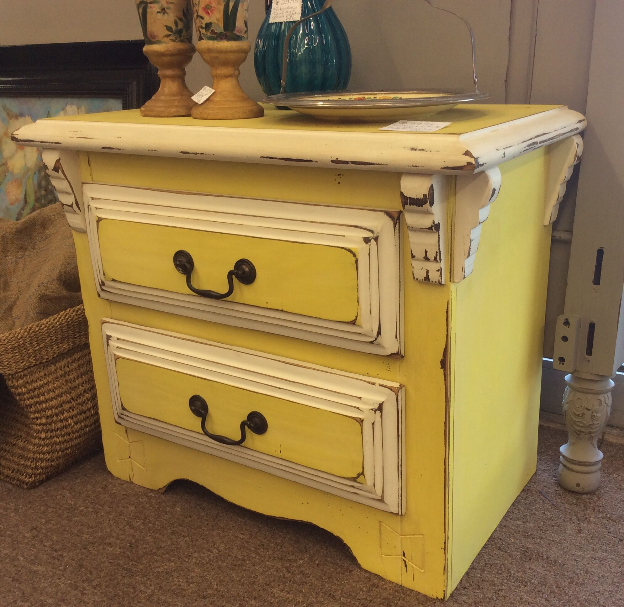 79 95 Gorgeous Bright Yellow 2 Drawer Nightstand Found In Marietta On Sun 9 21 A Classy Flea Alli 1355 R With Images Redo Furniture Furniture Rehab Recycled Furniture