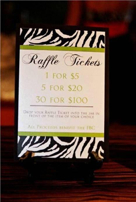 5050 Raffle Sign Ideas
