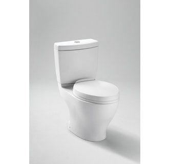 View The Toto Cst412mf 10 Aquia Two Piece Elongated 0 9 Gpf Toilet With Dual Max Flush System Less Seat 10 Toto Toilet Dual Flush Toilet One Piece Toilets