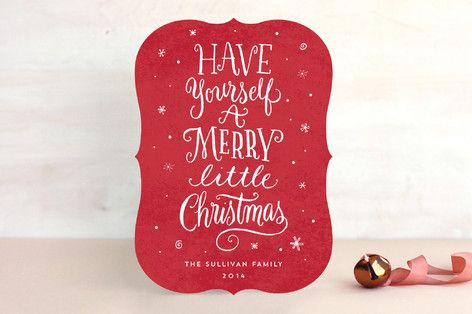 a little christmas whimsy holiday non photo cards by laura bolter design at minted - Non Photo Christmas Cards