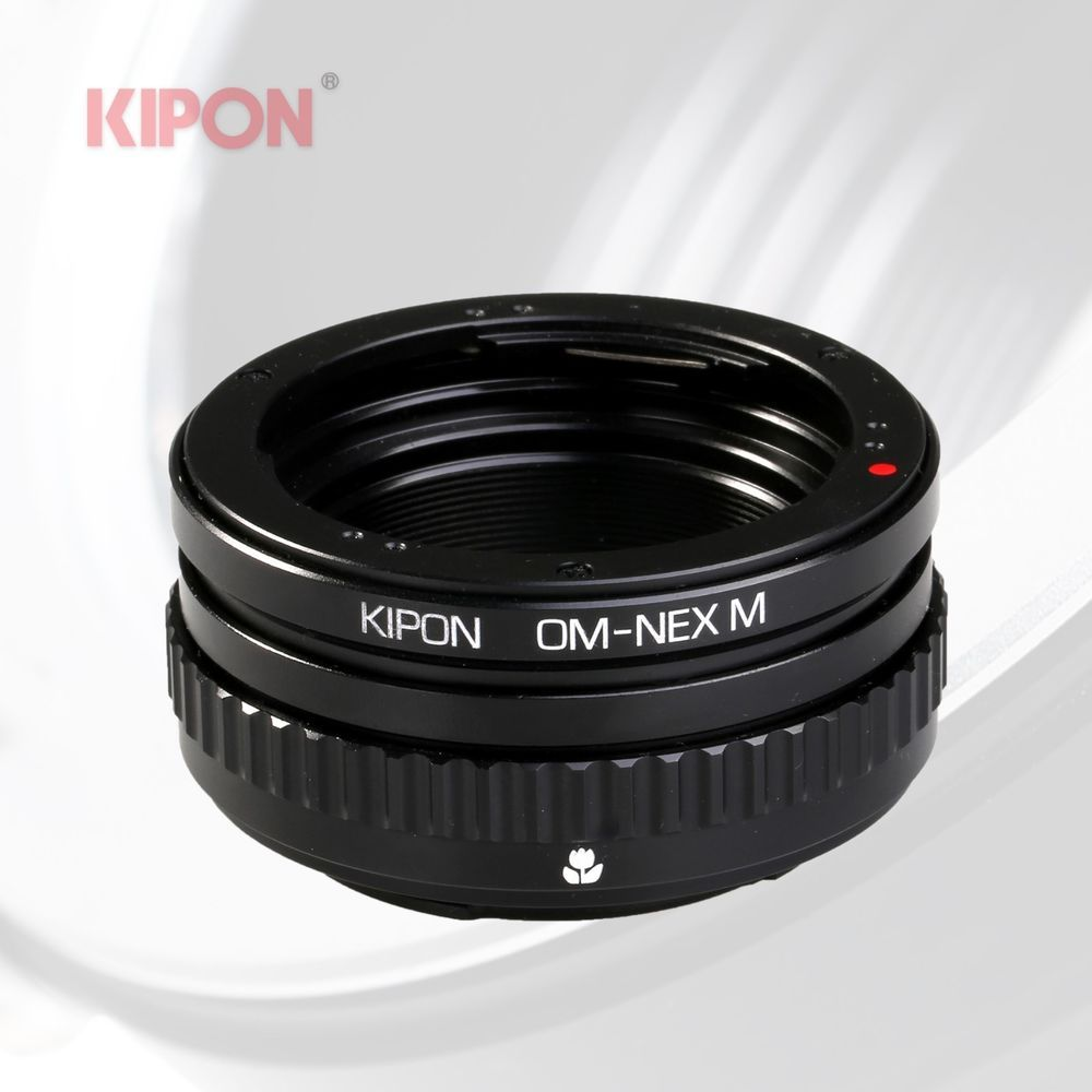 Kipon Macro Adapter with Helicoid Tube for Olympus OM Lens to Sony NEX Camera #KIPON