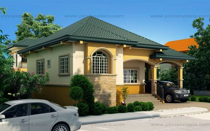 Althea   Elevated Bungalow House Design | Pinoy EPlans   Modern House  Designs, Small House
