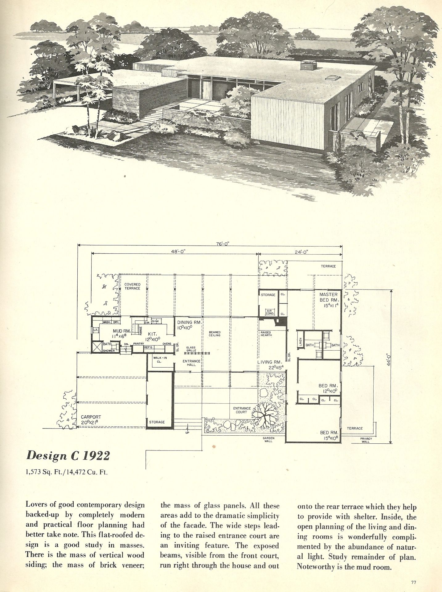 Vintage House Plans, 1960s homes, mid century homes | Cool ...