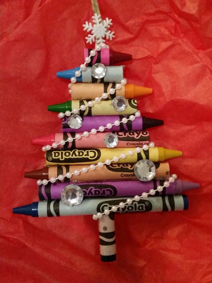 Crayon tree ornament