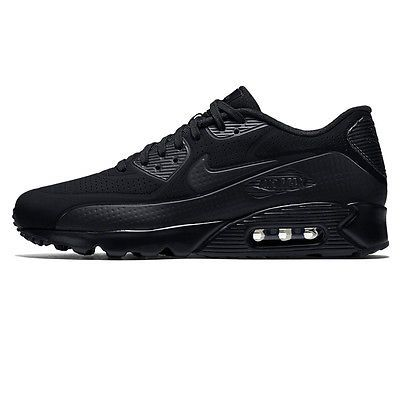 various colors 41799 fe637 Nike Air Max 90 Ultra Moire Mens 819477-010 Black Leather Running Shoes  Size 10