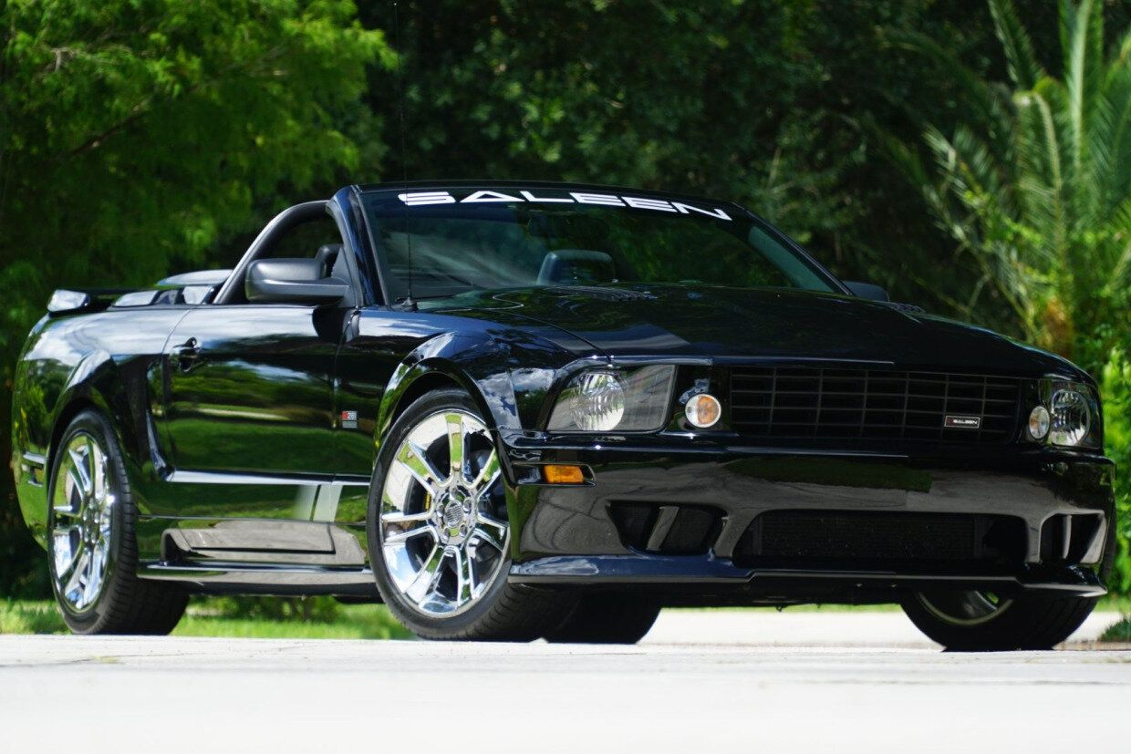 For Sale 2007 Ford Mustang Saleen S281 Speedster 438 Black Supercharged 4 6l V8 5 Speed 18k Miles Stangbangers In 2020 2007 Ford Mustang Ford Mustang Saleen Ford Mustang