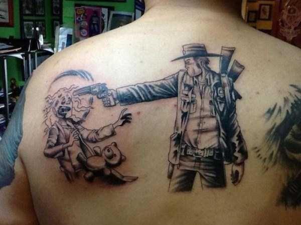 Badass Walking Dead Tattoos   Creative Arts & Design ...