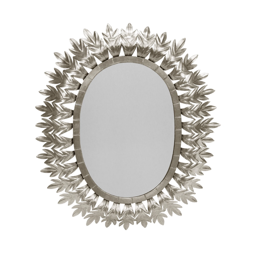Lona Oval Mirror Silver Leaf In 2020 With Images Mirror
