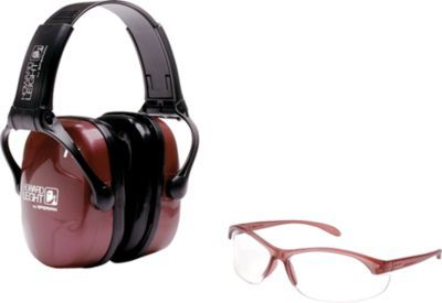 Eye Ear Protection Gear Kit Safety Earmuffs Shooting Glasses Noise Reduction NEW