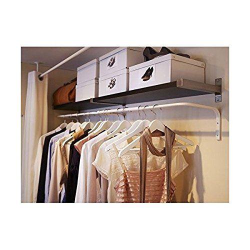 Amazon Com Ikea Mulig Clothes Bar White Adjustable Multi