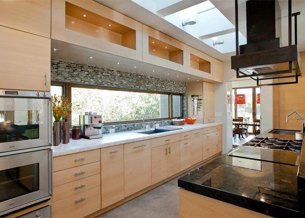 10 Inspiring Kitchens With Blond Wood Kitchen Window Design Modern Kitchen Design Contemporary Kitchen Design