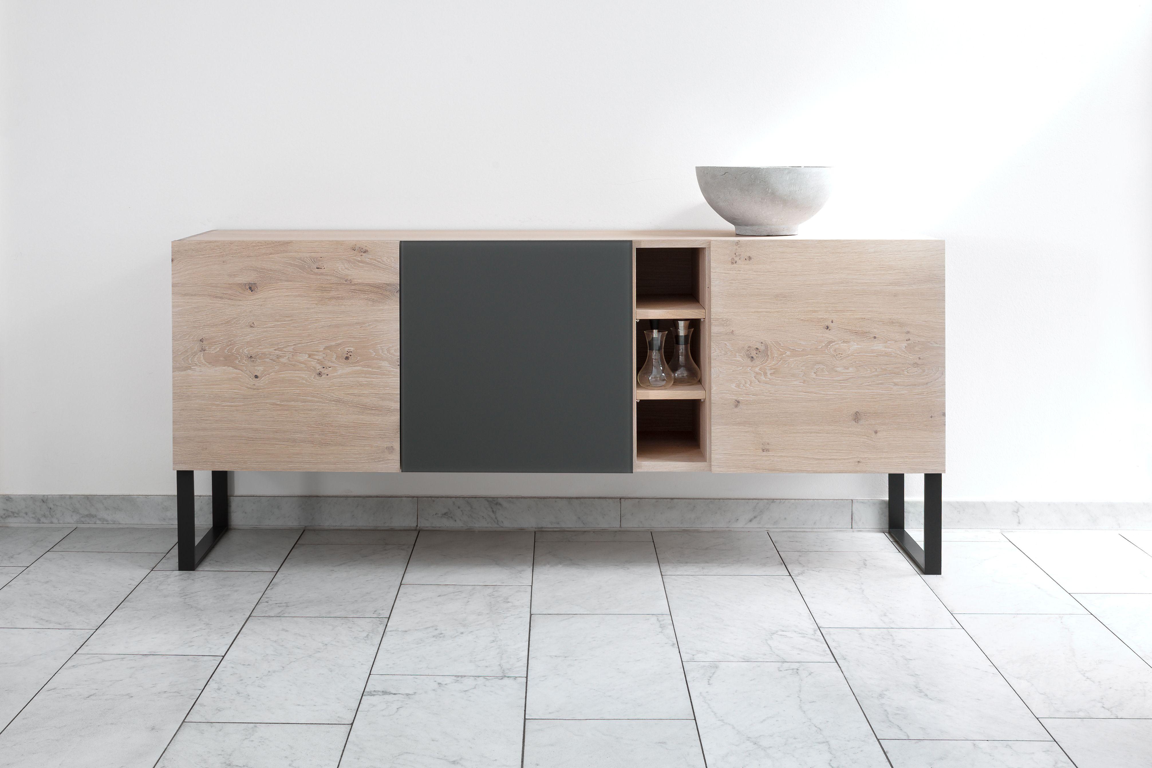 Form Exclusiv Anrichte Kuub, Eiche Weiß Geölt #Massivholz #Möbel #Design  #Interior