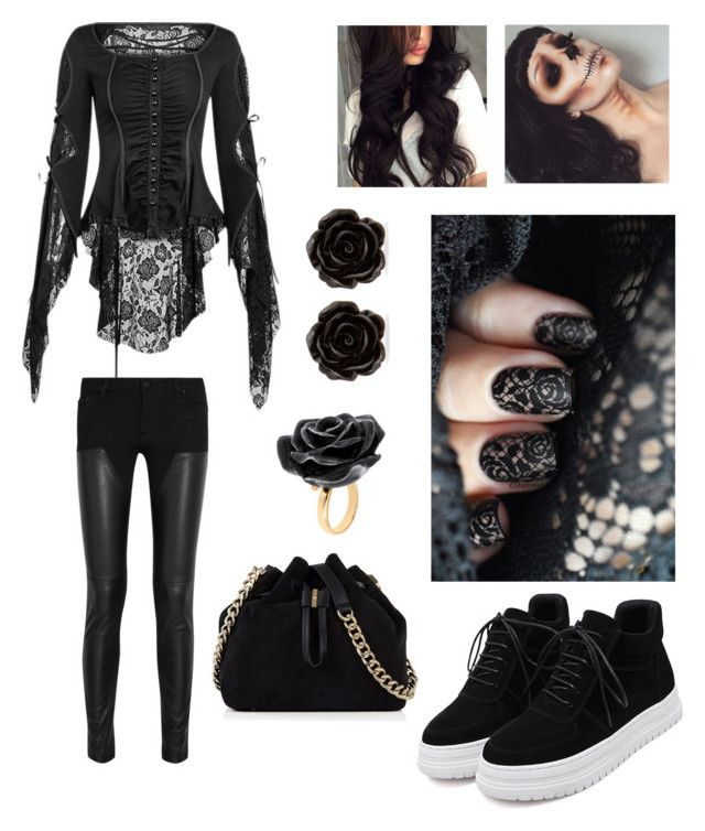 """""""Halloween 👻🎃"""" by carina279 on Polyvore featuring Mode, Givenchy, Erica Lyons, Nach Bijoux und Karen Millen"""