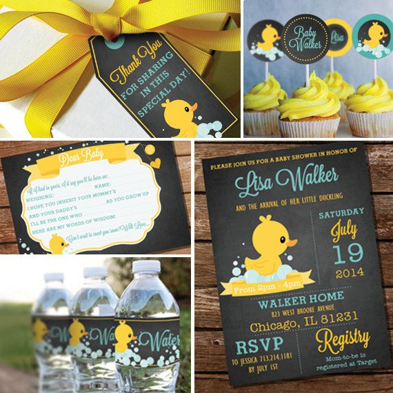 Chalkboard Rubber Duck Baby Shower Theme Unisex Baby Shower Etsy Baby Shower Duck Unisex Baby Shower Rubber Duck Baby Shower