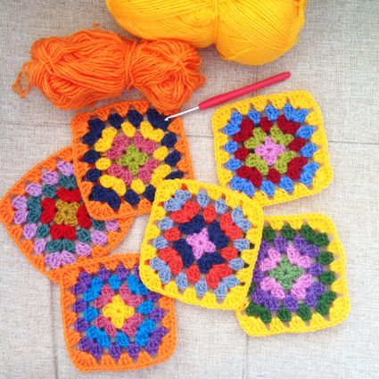 Sucrette shares her love of colorful granny squares #crochet