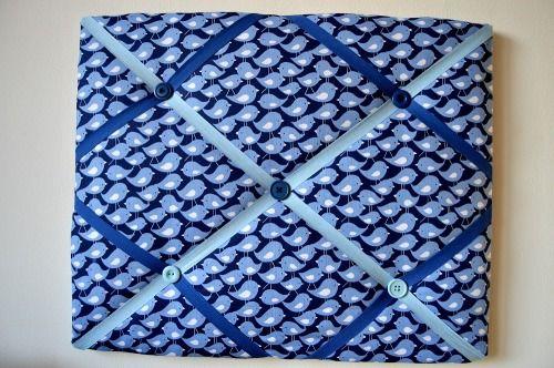 Bluebird Themed Fabric Noticeboard
