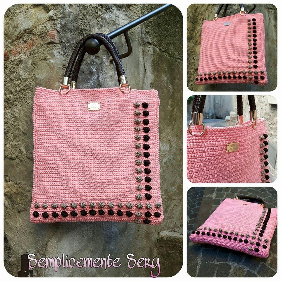 Pin von Mikanube DIY\'s auf Crochet   Pinterest   Tasche häkeln ...