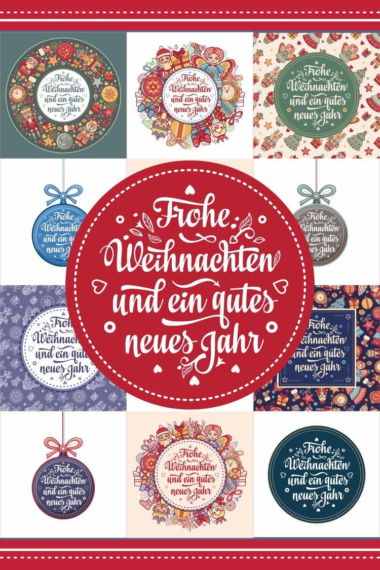 ! German New Year and Xmas. 30 card. Neujahr und Weihnachten (384339) | Illustrations | Design Bundles